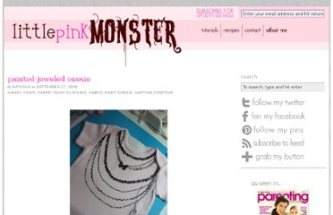 http://www.littlepinkmonster.com/2009/09/17/painted-jeweled-onesie/