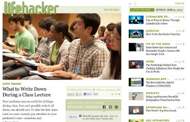 http://lifehacker.com/5879941/what-to-write-down-during-a-class-lecture