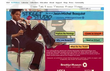 http://www.brooklynmuseum.org/exhibitions/basquiat/street-to-studio/english/home.php