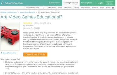 http://www.education.com/magazine/article/Video_Games_Educational/