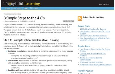 http://www.thoughtfullearning.com/blogpost/3-simple-steps-4-cs