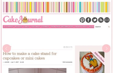 http://cakejournal.com/tutorials/how-to-make-a-cake-stand-for-cupcakes-or-mini-cakes/
