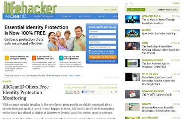 http://lifehacker.com/5820826/get-free-identity-protection-monitoring-from-allclearid