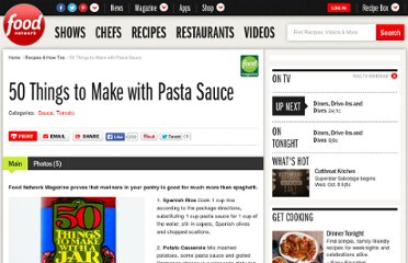 http://www.foodnetwork.com/recipes-and-cooking/50-things-to-make-with-pasta-sauce/index.html
