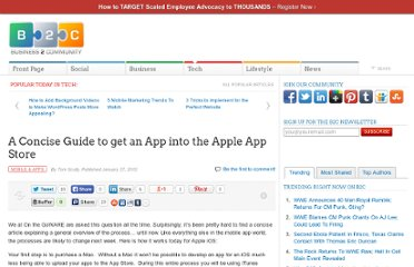 http://www.business2community.com/mobile-apps/a-concise-guide-to-get-an-app-into-the-apple-app-store-0125640