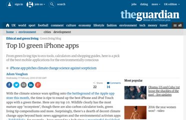 http://www.guardian.co.uk/environment/green-living-blog/2010/feb/17/top-10-green-iphone-apps