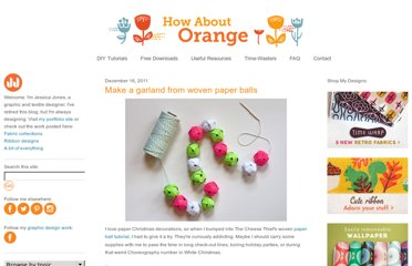 http://howaboutorange.blogspot.com/2011/12/make-garland-from-woven-paper-balls.html