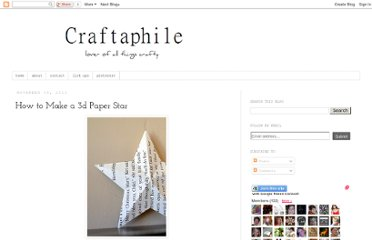 http://craftaphile.blogspot.com/2011/11/how-to-make-3d-paper-star.html