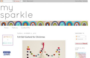 http://mysparkle.blogspot.com/2011/11/felt-ball-garland-for-christmas.html