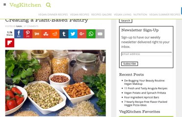 http://www.vegkitchen.com/tips/vegetarian-pantry/