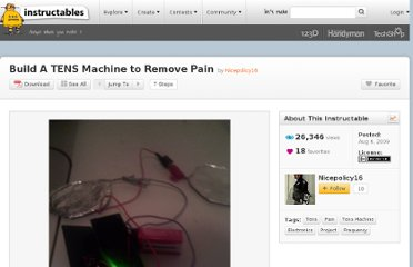 http://www.instructables.com/id/Build-A-TENS-Machine-to-Remove-Pain/