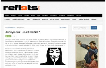 http://reflets.info/anonymous-un-art-martial/