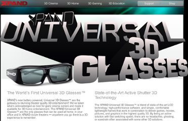 http://www.xpand.me/products/universal-3d-glasses-x103/