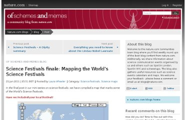 http://blogs.nature.com/ofschemesandmemes/2011/06/21/mapping-the-worlds-science-festivals