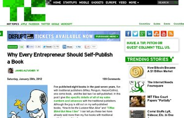 http://techcrunch.com/2012/01/28/why-every-entrepreneur-should-self-publish-a-book/