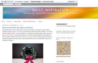 http://quiltinspiration.blogspot.com/2011/11/easy-pieced-wreath-free-pattern-and.html