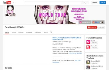 http://www.youtube.com/user/DemiLovatoVEVO