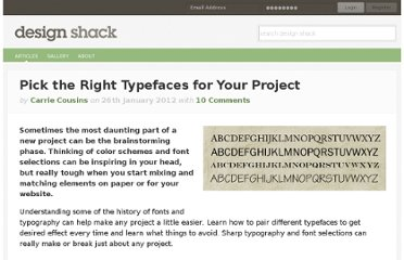 http://designshack.net/articles/typography/pick-the-right-typefaces-for-your-project/