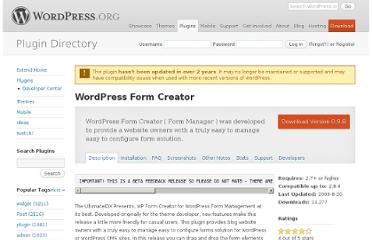 http://wordpress.org/extend/plugins/wp-form-creator/