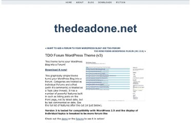 http://thedeadone.net/download/tdo-forum-wordpress-theme/
