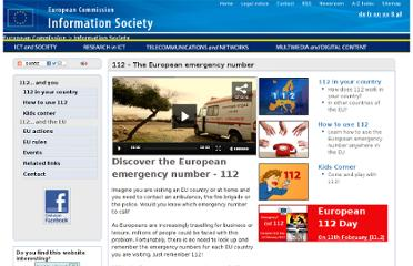 http://ec.europa.eu/information_society/activities/112/index_en.htm