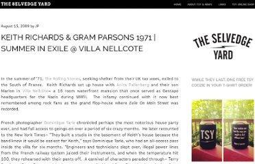 http://theselvedgeyard.wordpress.com/2009/08/13/keith-richards-gram-parsons-1971-summer-in-exile-villa-nellcote/