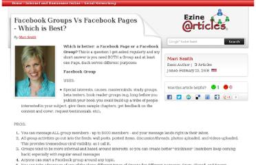 http://ezinearticles.com/?Facebook-Groups-Vs-Facebook-Pages---Which-is-Best?&id=1775095