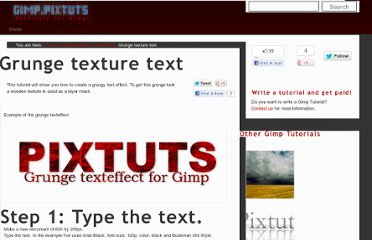 http://gimp.pixtuts.com/gimp-tutorials/text-effects/grunge-texture-text