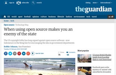 http://www.guardian.co.uk/technology/blog/2010/feb/23/opensource-intellectual-property