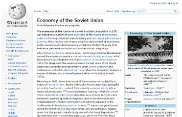 http://en.wikipedia.org/wiki/Economy_of_the_Soviet_Union