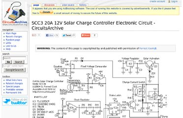 1n5818 solar charger controller circuit diagram my note book solar regulator circuit diagram on www circuitsarchive org index php scc3 20a 12v solar charge controller sciox Choice Image