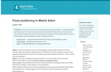 http://old.doctyper.com/archives/200808/fixed-positioning-on-mobile-safari/