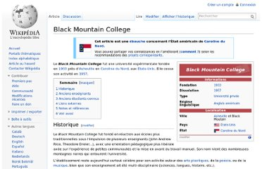 http://fr.wikipedia.org/wiki/Black_Mountain_College