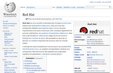 http://fr.wikipedia.org/wiki/Red_Hat