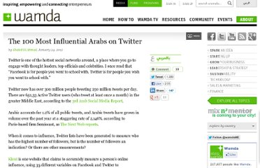 http://www.wamda.com/2012/01/the-100-most-influential-arabs-on-twitter