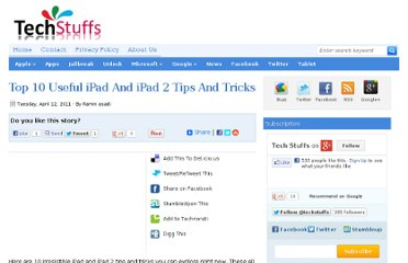 http://www.techstuffs.net/2011/04/top-10-useful-ipad-and-ipad-2-tips-and.html