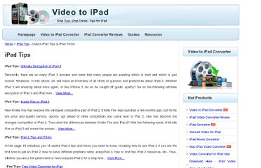 http://www.video-to-ipad.net/ipad-tips.html