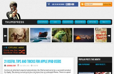 http://thumbpress.com/21-useful-tips-and-tricks-for-apple-ipad-users/
