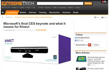 http://www.extremetech.com/computing/112901-microsofts-final-ces-keynote-and-what-it-means-for-kinect