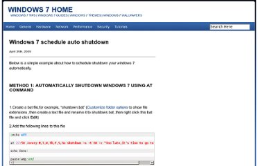 http://www.windows7home.net/windows-7-schedule-auto-shutdown/