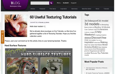http://3dexport.com/blog/2010/04/60-useful-texturing-tutorials/