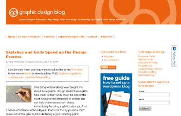 http://www.graphicdesignblog.co.uk/sketches-and-grids-speed-up-the-design-process/