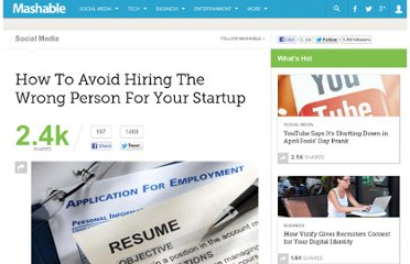 http://mashable.com/2012/01/29/avoid-hiring-the-wrong-person/