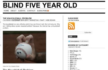 http://www.blindfiveyearold.com/the-knuckleball-problem