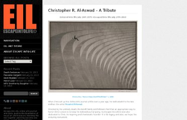 http://www.escapeintolife.com/tribute/christopher-r-al-aswad-a-tribute-4/