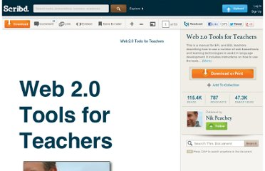 http://pt.scribd.com/doc/19576895/Web-20-Tools-for-Teachers