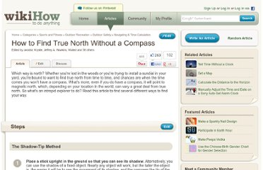 http://www.wikihow.com/Find-True-North-Without-a-Compass
