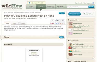 http://www.wikihow.com/Calculate-a-Square-Root-by-Hand