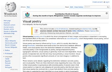 http://en.wikipedia.org/wiki/Visual_poetry