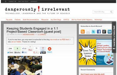 http://dangerouslyirrelevant.org/2012/01/keeping-students-engaged-in-a-11-project-based-classroom-guest-post.html